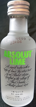 Absolut Lime flavored vodka