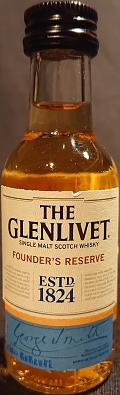 The Glenlivet Founder`s reserve single malt scotch whisky